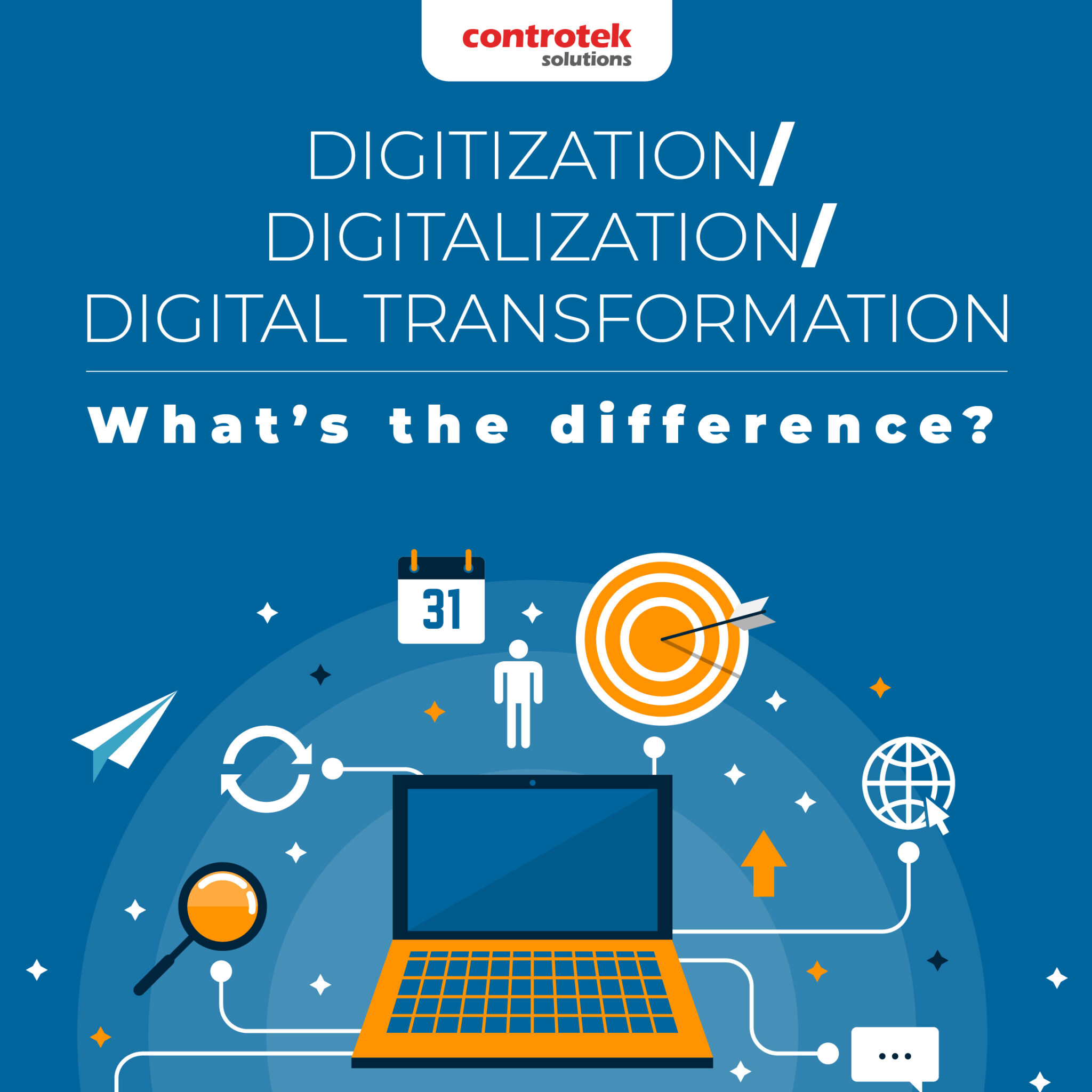 Digitalization, Digitization, and Digital Transformation - What's the Difference?