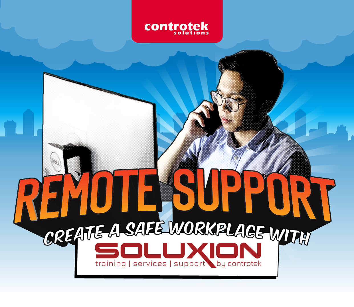 Create a Safe Workplace with SOLUXION's Remote Support! | Controtek Solutions
